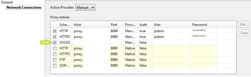eclipse proxy preferences Configurar el proxy en Eclipse 3.7 Indigo